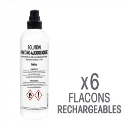 Solution hydro-alcoolique - Flacons de 500 mL rechargeables