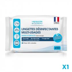 Lingettes désinfectantes multi-usages - Mains et surfaces - A l'unité